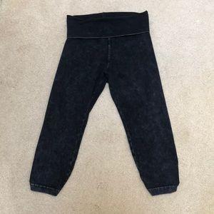Hard Tail Pants - Hard Tail Charcoal Acid Wash Capri Leggings